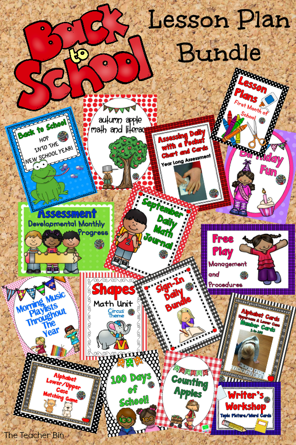 Lesson Plan-Back to School Plans and Activity Packets