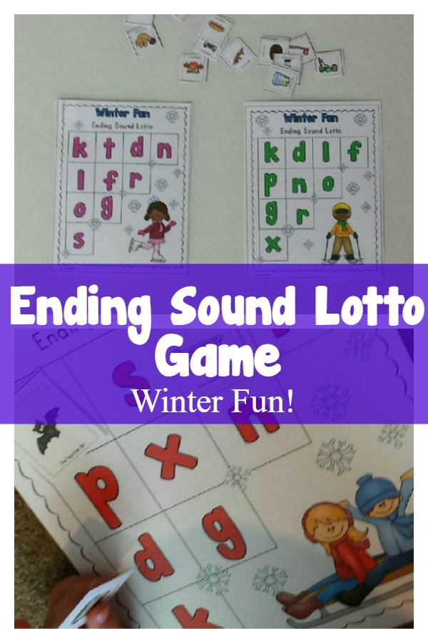 Ending Sound Lotto Games-Winter Fun