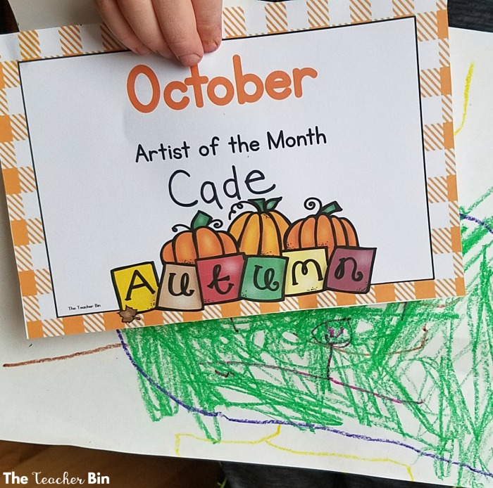 The Artist of the Month is the perfect way to get kids to their best work! The artist awards are a great classroom incentive! The artist of the month is a great for classroom management! #elementaryart #classroommanagement #classroomincentive