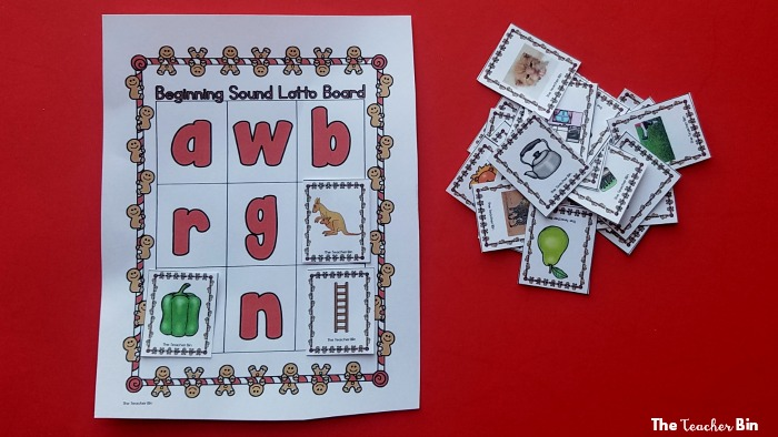 Gingerbread Beginning Sound Game
