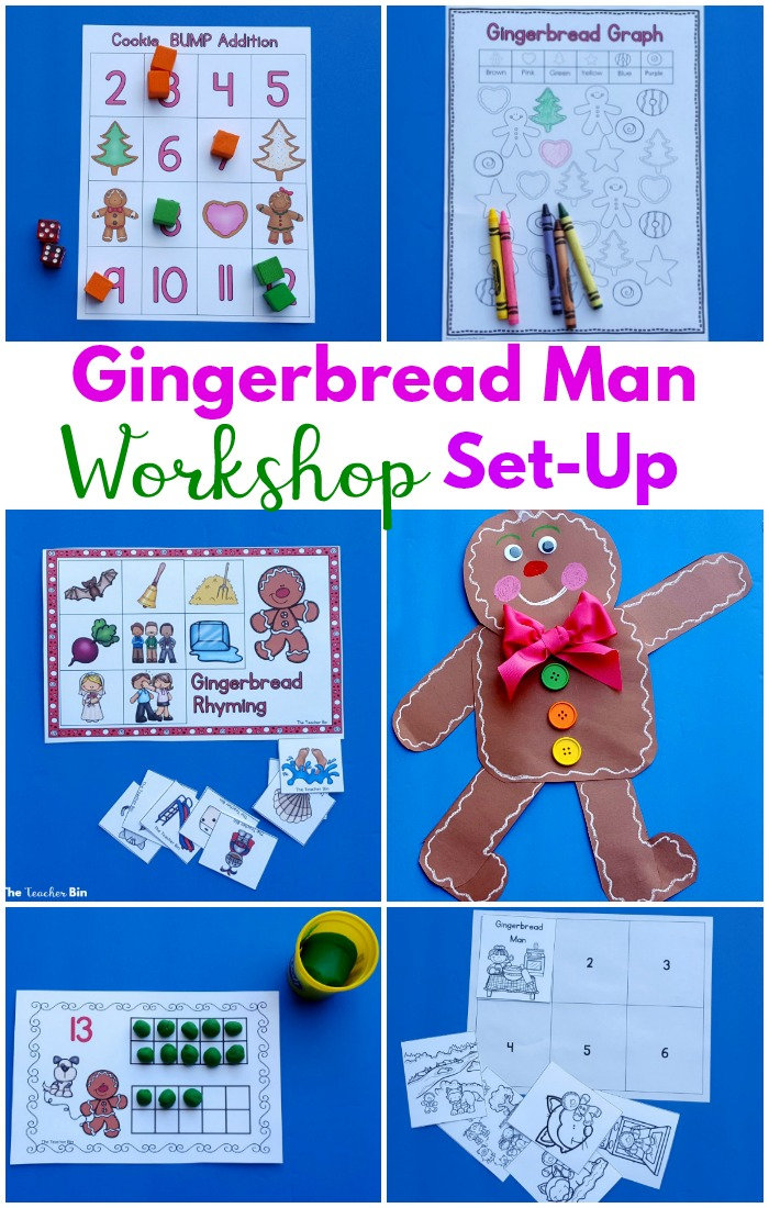 Gingerbread Man workshop is the best way to combine math centers, literacy centers, writers workshop and more in an efficient way! The gingerbread man theme is perfect for the month of December! #gingerbreadmanactivities #mathcenters #literacycenters #writersworkshop