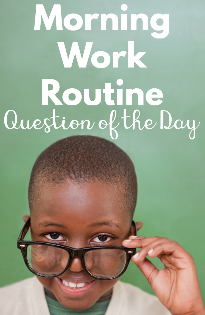 Question of the day is the perfect way to start the day. The kids LOVE this activity and it is always positive! There are comparison, yes/no and multiple choice questions. #morningwork #morningmeeting #kindergartenquestionoftheday