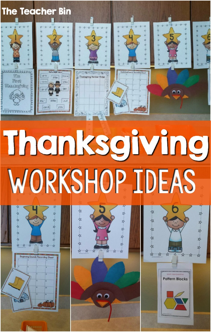 Thanksgiving Workshop is the perfect way to combine Thanksgiving math centers and Thanksgiving literacy centers and more. I use this in place of math and literacy centers as I find it more effective and efficient! These thanksgiving themed activities are perfect for the kindergarten classroom! #thanksgivingmathcenters #thanksgivingliteracycenters #thanksgivingworkshop #thanksgivingkindergarten