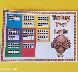 Turkey Trot Ten Frame Math Game