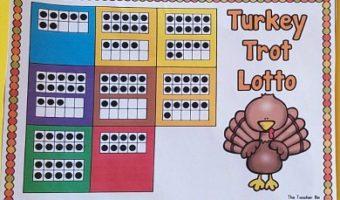 Turkey Trot Ten Frame Math Game