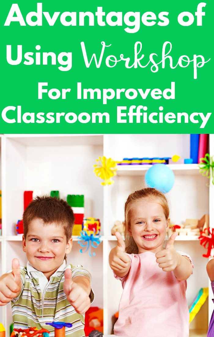 Use workshop in place of seperate math centers or literacy centers.  Make your classroom flow more efficiently with workshop.  There are so many great advantages to workshop! #kindergarten #mathcenters #literacycenters