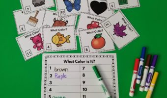 Sight Words- Word Work- Colors