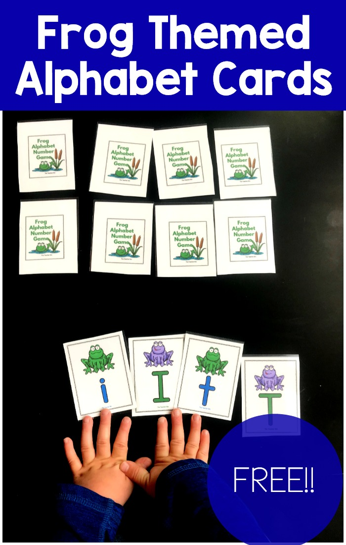 Fun Frog Themed alphabet cards for kindergarten. Kids will love playing games with these alphabet cards.