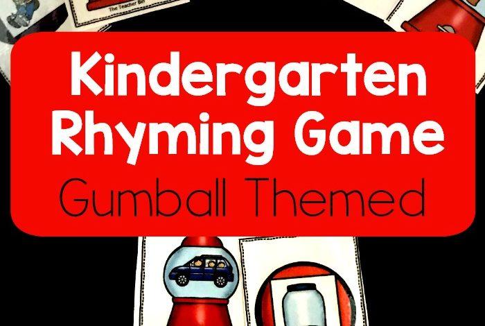 Kindergarten Rhyming Game- Freebie