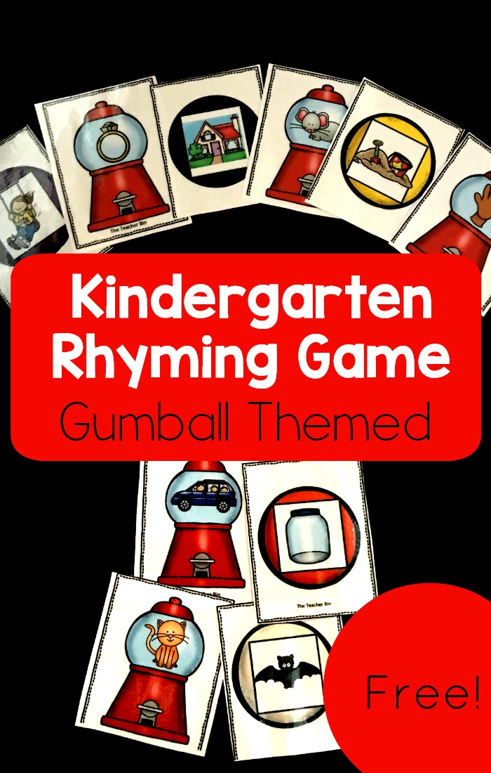 This awesome Kindergarten Rhyming Game is gumball themed. Kids will love finding the matches and these free cards are a perfect addition to your lesson plans!