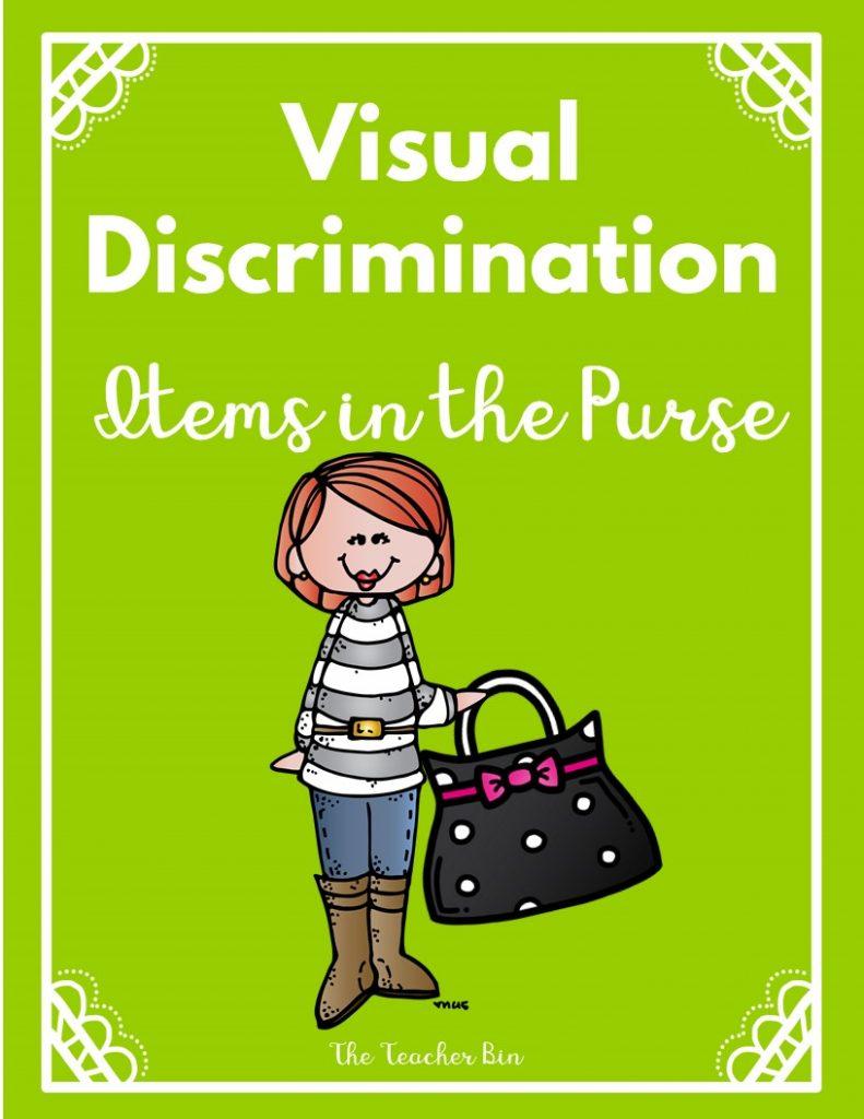 Kindergarten Visual Discrimination Game - Purse Theme