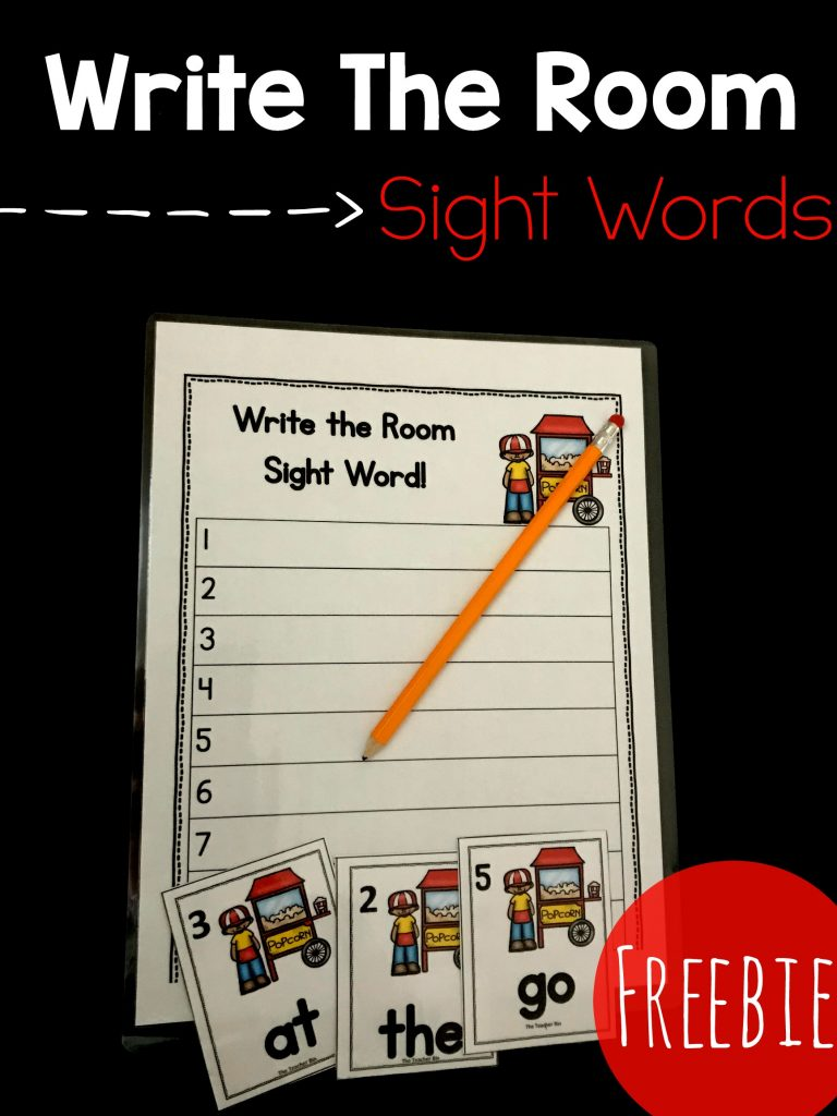Fun kindergarten sight word game to use in the classroom! This great printable is a great way to get kindergartners up and around the room while learning.