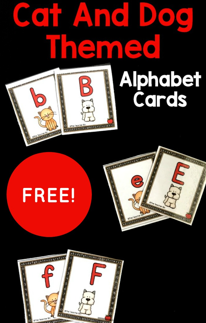 A fun cat and dog themed alphabet game for kindergarten. Kids will have fun finding the cat and dog letter matches!