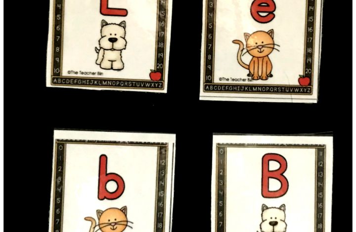 Kindergarten Cat And Dog Alphabet Cards And Game- Freebie