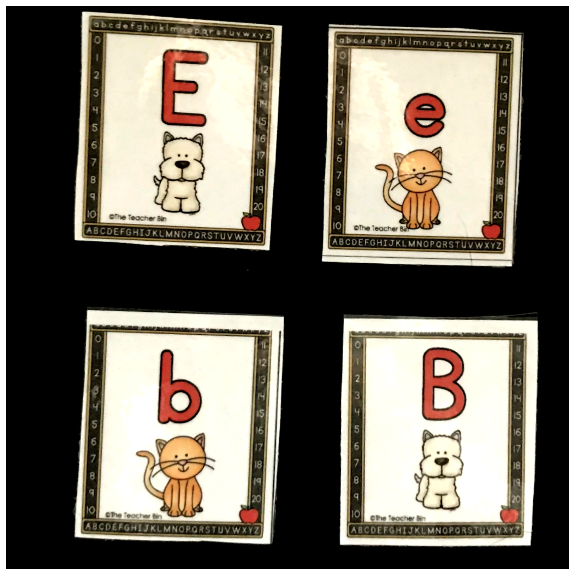 Kindergarten Cat and Dog Alphabet Cards are great to help kids learn to match uppercase and lowercase letters. Kids will love the fun cat and dog themed cards!