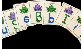 Great frog themed alphabet cards and printables for kindergarten. Kids will have fun playing a variety of letter recognition and matching games with these adorable printables.