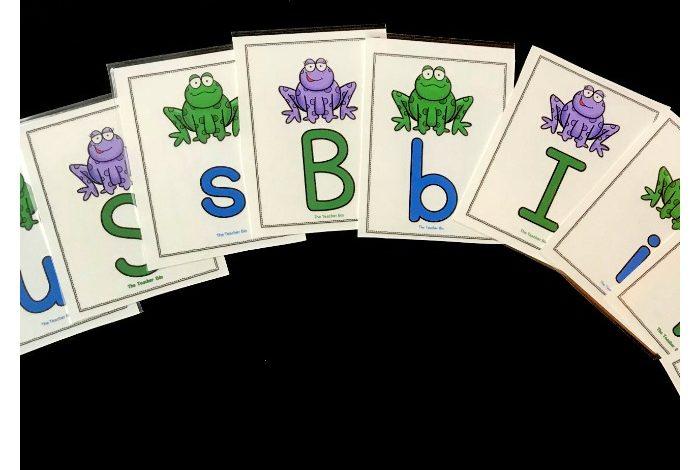 Kindergarten Frog Themed Alphabet Cards- Freebie