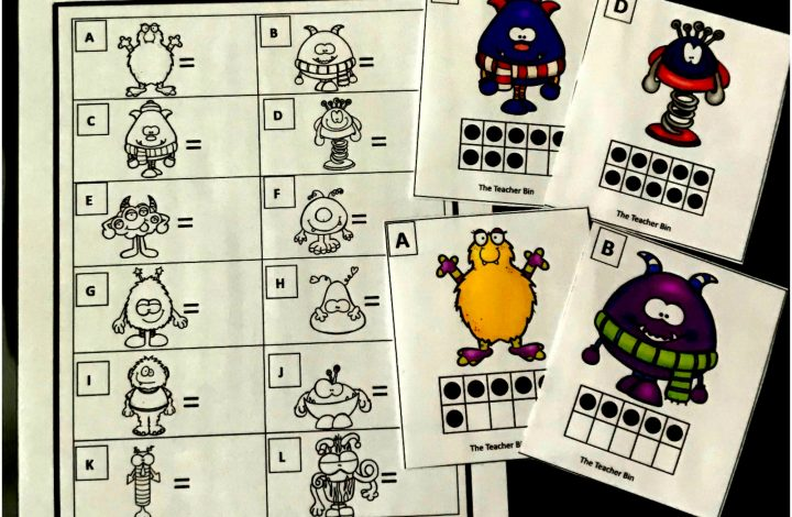 Kindergarten Subitizing Math Game – Freebie