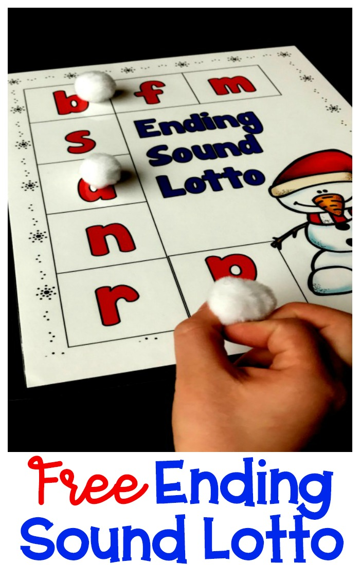 A fun ending sound lotto game for kindergarten that reviews the ending sounds of words. Students will love playing this fun game that comes with 110 picture cards.