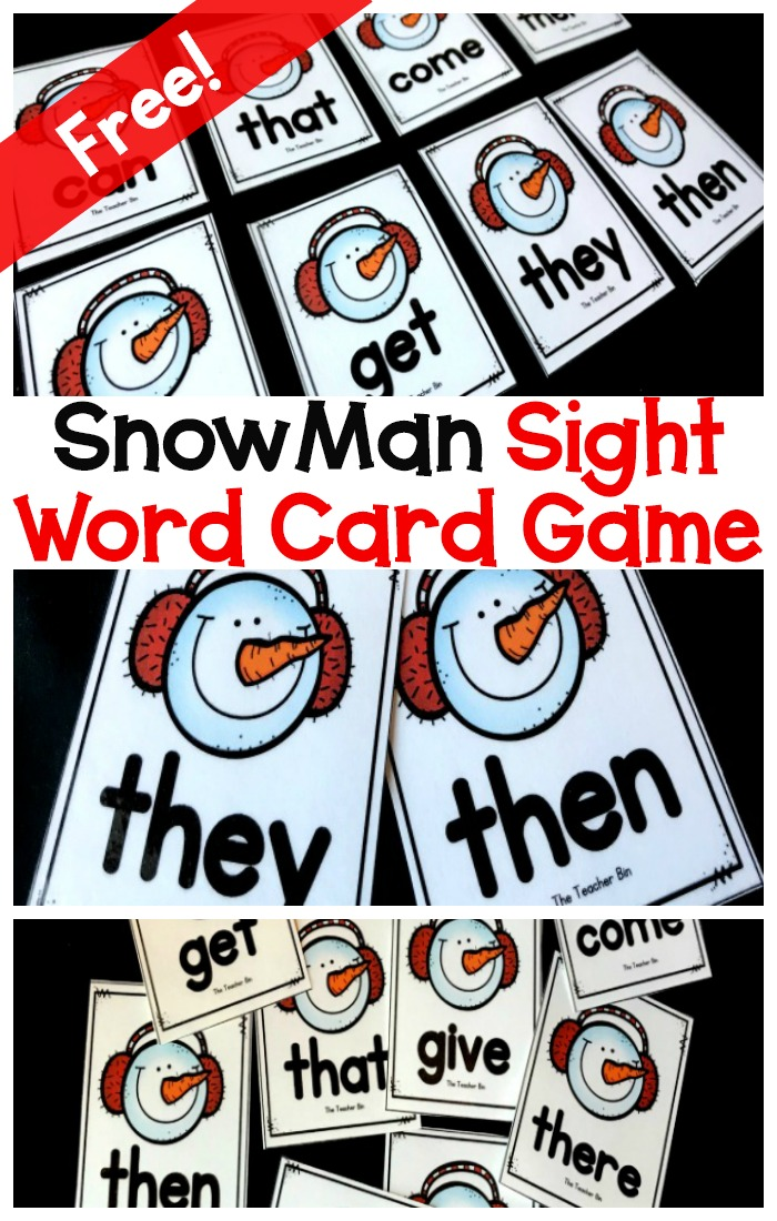 Fun Snowman themed sight word card games is a fun and engaging way to work on kindergarten sight words. Kids will love this fun winter theme. Great for morning time or workshop!