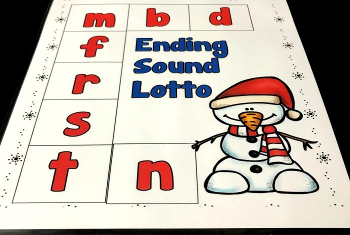 Fun Ending sounds lotto game for kindergarten or first grade. Students will love reviewing ending sounds with this engaging game