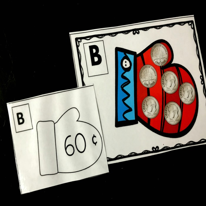 Fun Hat and Mittens Coin games to teach kids the value of nickels, dimes and quarters. This math card game is an easy addition to your lesson plans and kids will love it.